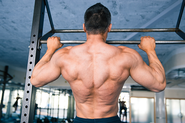 Pull-up power workout for men