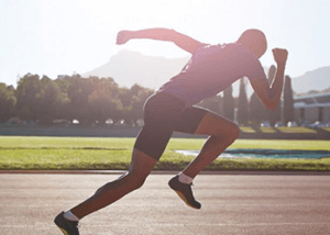 man sprinting power workout for men