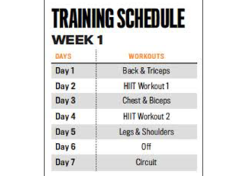 training schedule good habits for men