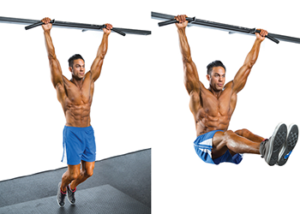 hanging leg raises abs over 40