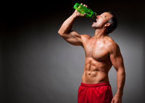 man drinking water muscle building foods